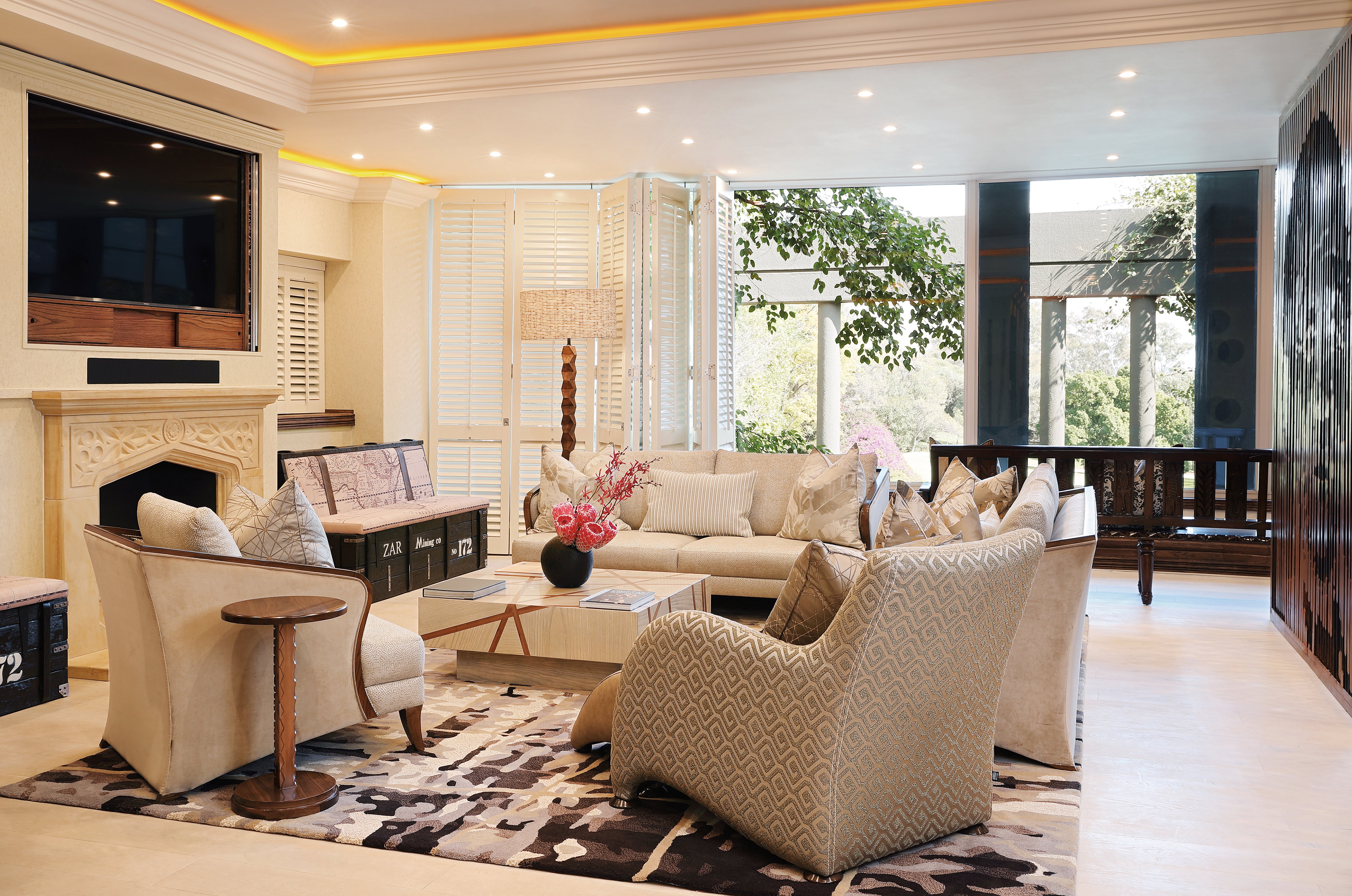 Nelson Mandela Platinum Suite Saxon Hotel Villas And